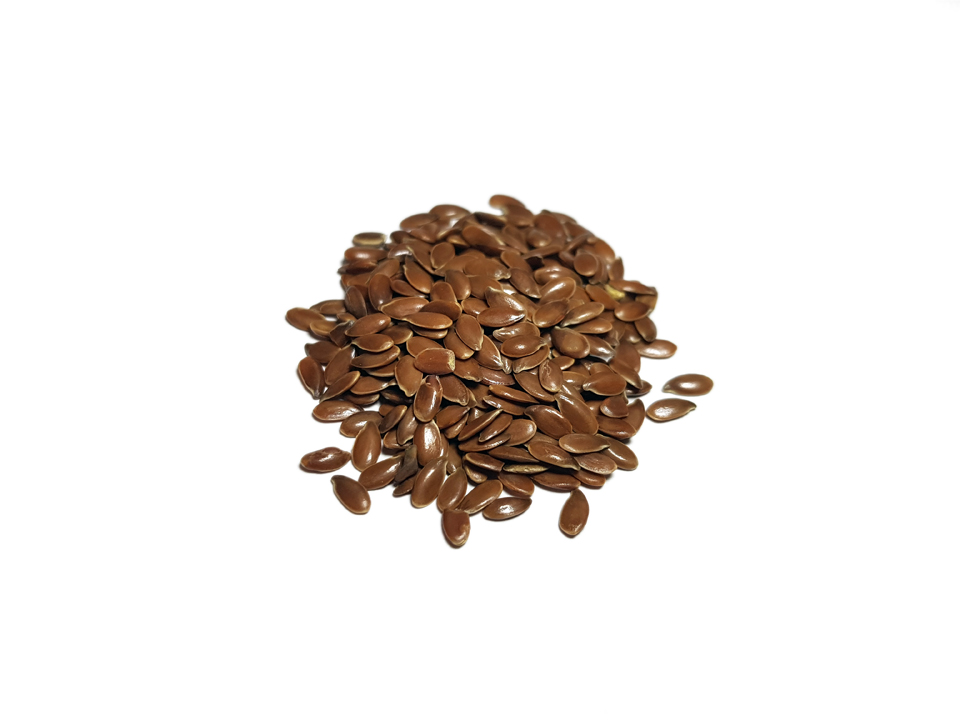 Flax seeds brown